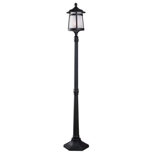 Outdoor Lantern Kenroy Black Aluminum, Outdoor Portable Lamp Post