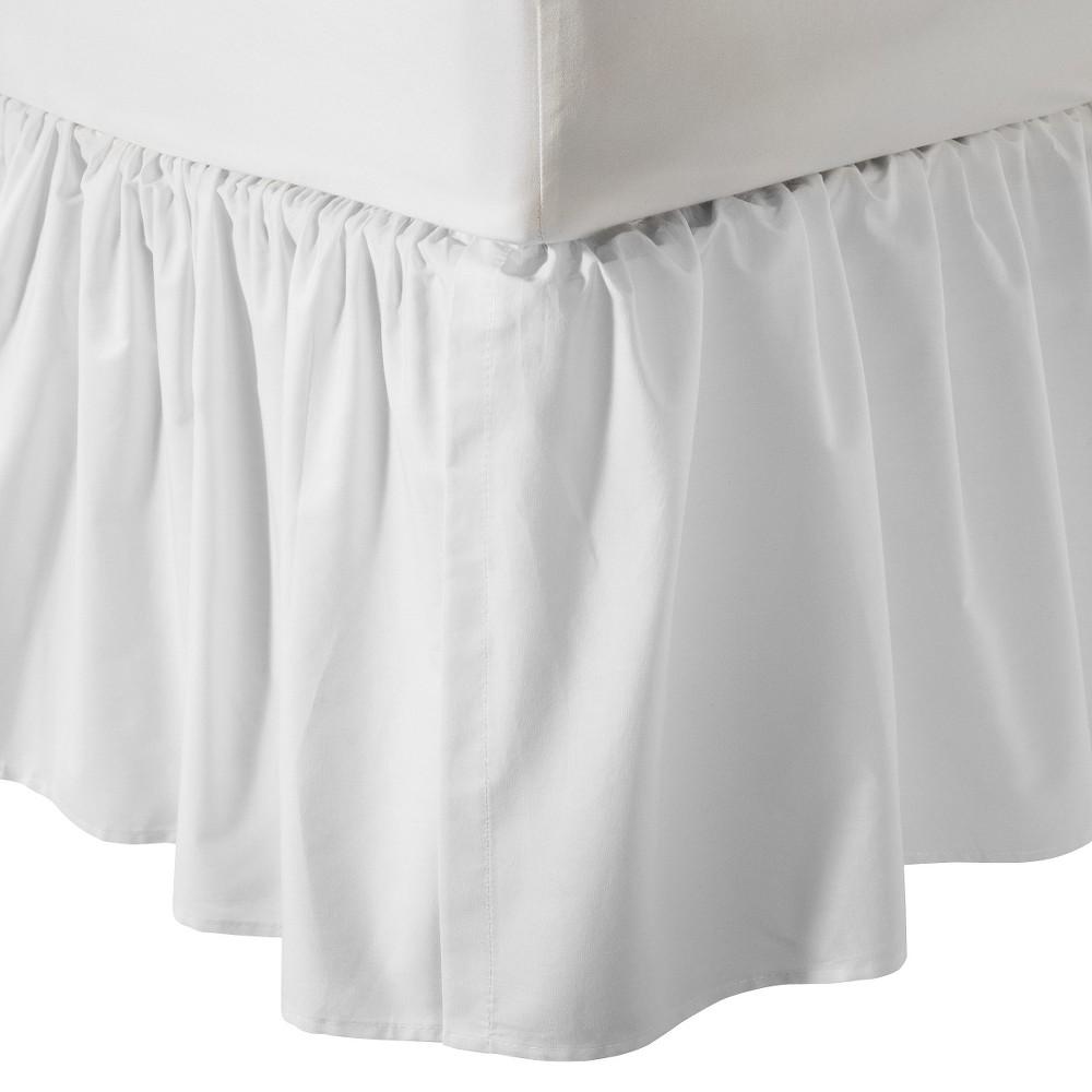 Image of TL Care 100% Cotton Percale Crib Dust Ruffle - White