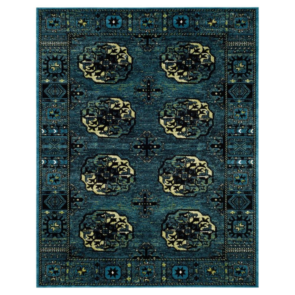 Blue Abstract Loomed Area Rug - (8'X10') - Safavieh, Blue/Multi