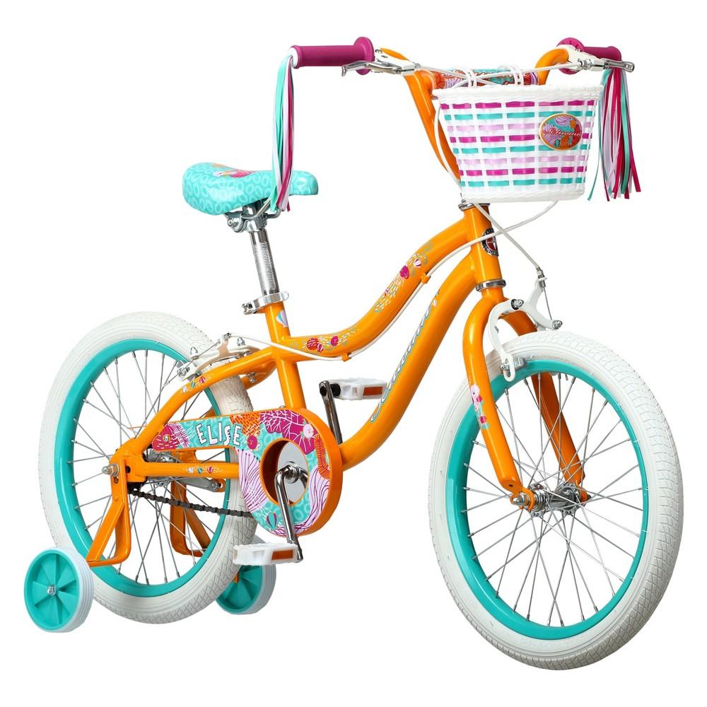 Schwinn Elise 18 Kid's Sidewalk Bike - Orange/Mint/Pink, Sizzling Orange