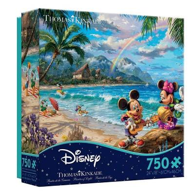 Ceaco Disney Thomas Kinkade: Mickey And Minnie Hawaii Jigsaw Puzzle - 750pc