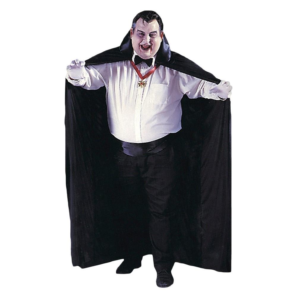 Big & Tall Men's Cape Big And Tall Costume XX-Large, Size: Xxl, Black