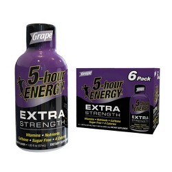 5 Hour Energy Extra Strength Shot - Grape - 6pk