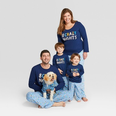 Matching Hannukah pajamas for the family
