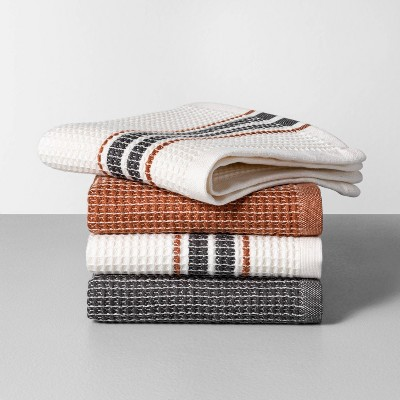 4pk Dishcloth Set Pumpkin Brown / Gray - Hearth & Hand™ with Magnolia