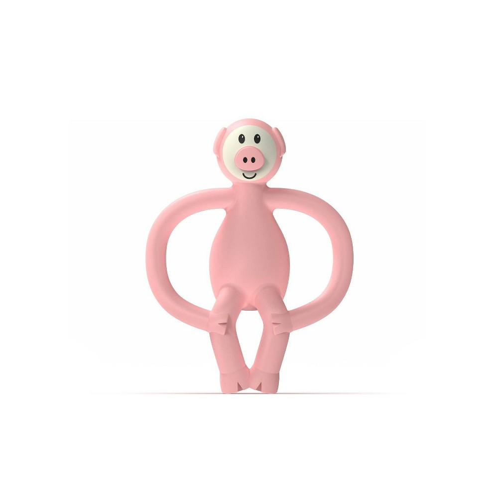 Image of Matchstick Monkey Teething Toy With BioCote Antimicrobial Technology - Pig