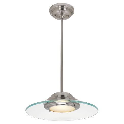 Phoebe Pendant Brushed Steel Finish with Clear Glass Shade - image 1 of 1