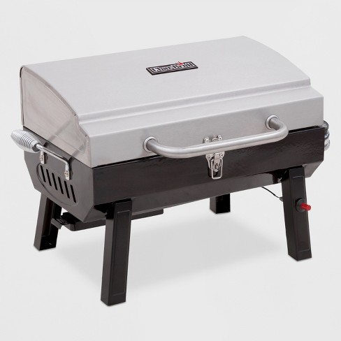 Char-Broil Deluxe Tabletop 10,000 BTU Gas Grill 465640214 - Gray - image 1 of 4