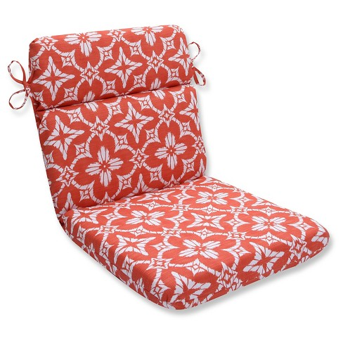 Pillow Perfect Aspidoras Coral Outdoor One Piece Seat And Back Cushion - Orange - image 1 of 1
