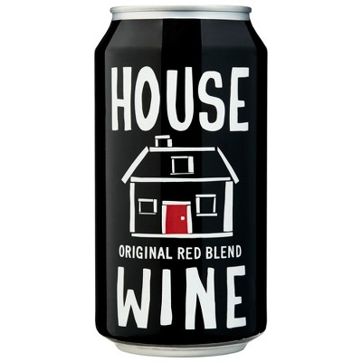 House Wines Red Blend Wine - 375ml Can