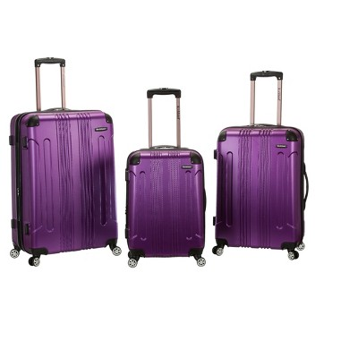 Rockland 3pc ABS Luggage Set - Purple