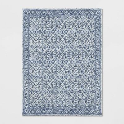 Argyle Tufted Area Rug Blue - Threshold™