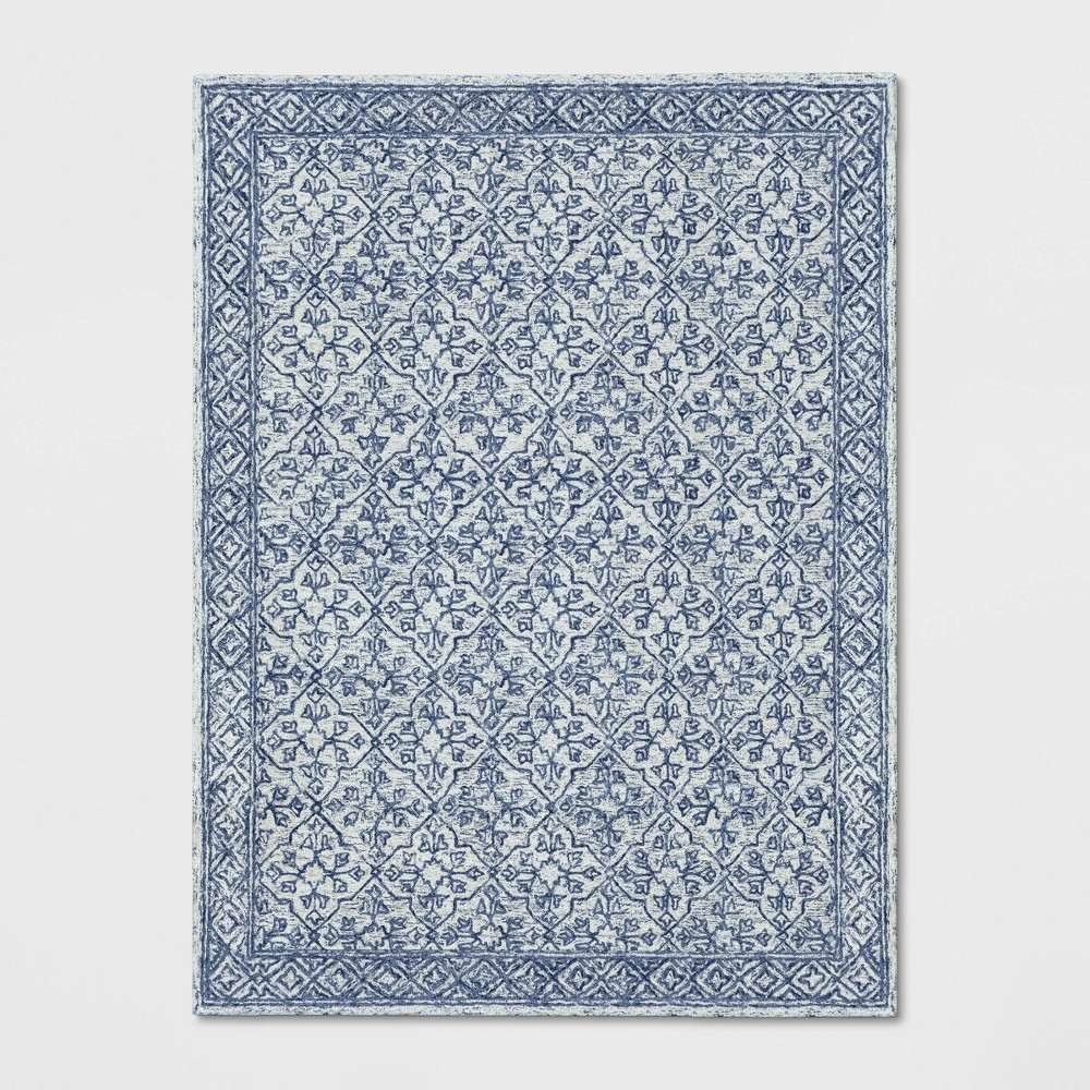 9'X12' Argyle Tufted Area Rug Blue - Threshold was $499.99 now $249.99 (50.0% off)