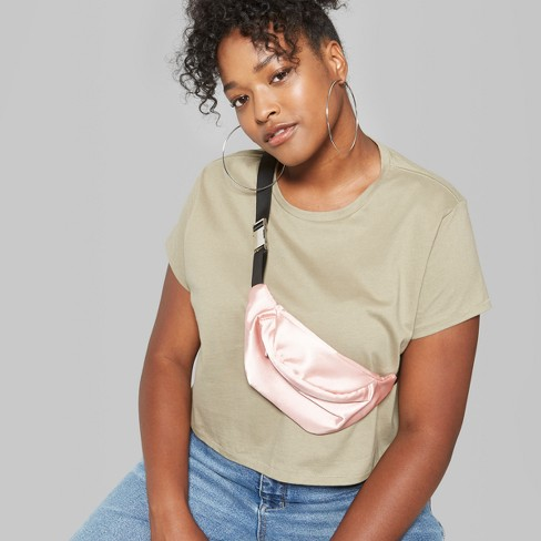 044c05755308d Women s Plus Size Short Sleeve Cropped Boxy T-Shirt - Wild Fable™ Olive