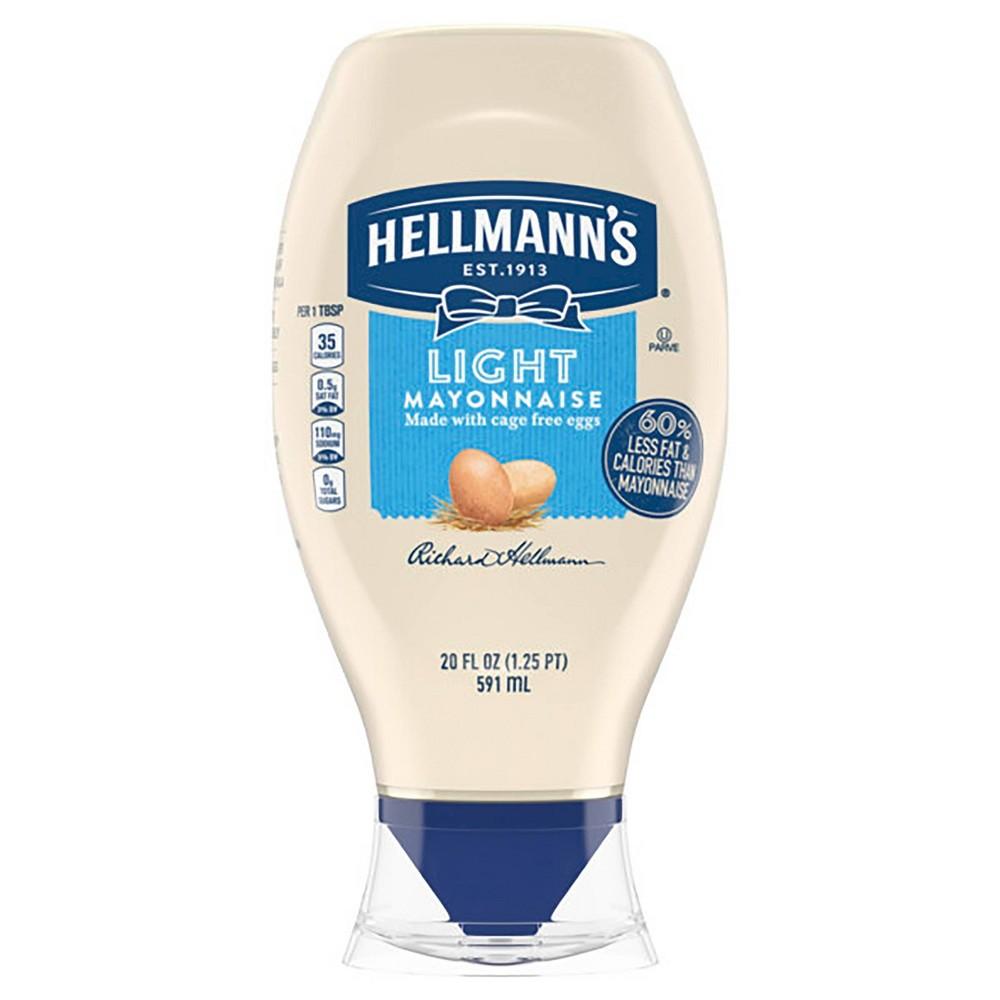 Hellmanns Light Mayonnaise Squeeze - 20oz Promos