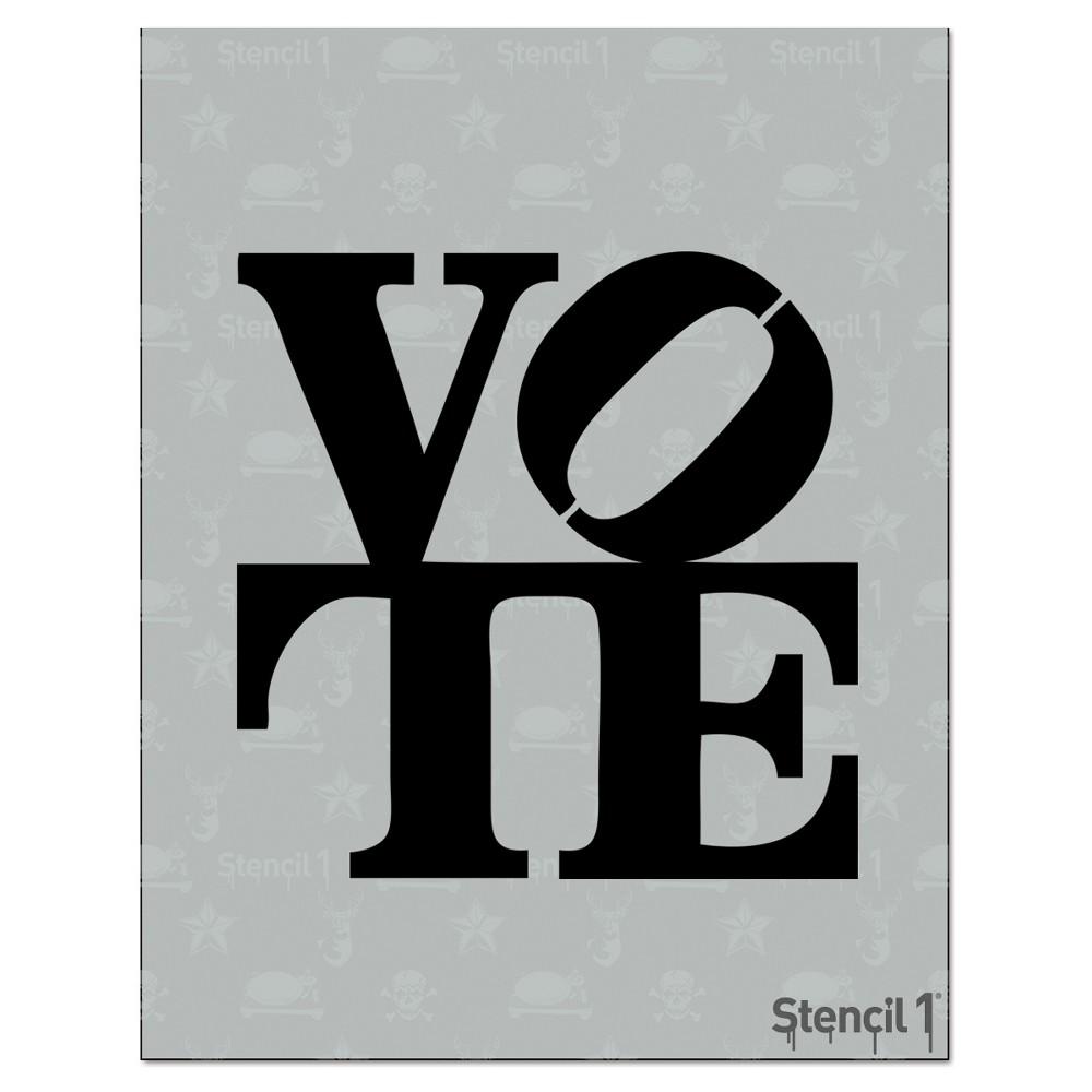Stencil1 Vote - Stencil 8.5 x 11, White