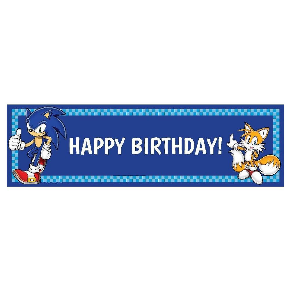 Sonic The Hedgehog Birthday Banner Standard