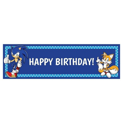 Sonic The Hedgehog Happy Birthday Bunting Banner Party Decoration Children Kids Party Supplies Banner Home Garden Greeting Cards Party Supplies