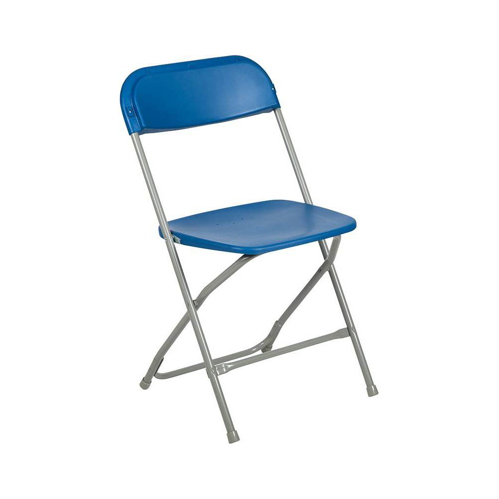 Riverstone Furniture Collection Plastic Folding Chair Blue