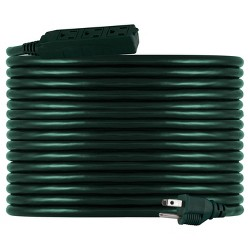 Philips 50' 3-Outlet Grounded Extension Cord Outdoor Green