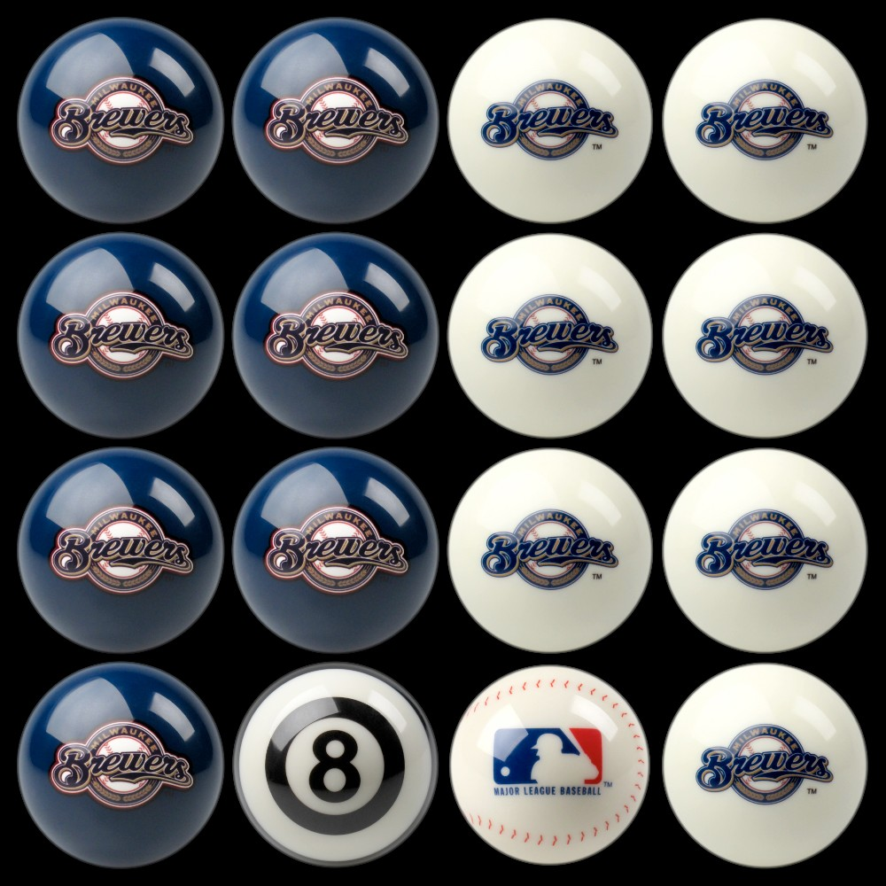 Milwaukee Brewers Imperial Home vs. Away Billiards Ball Set