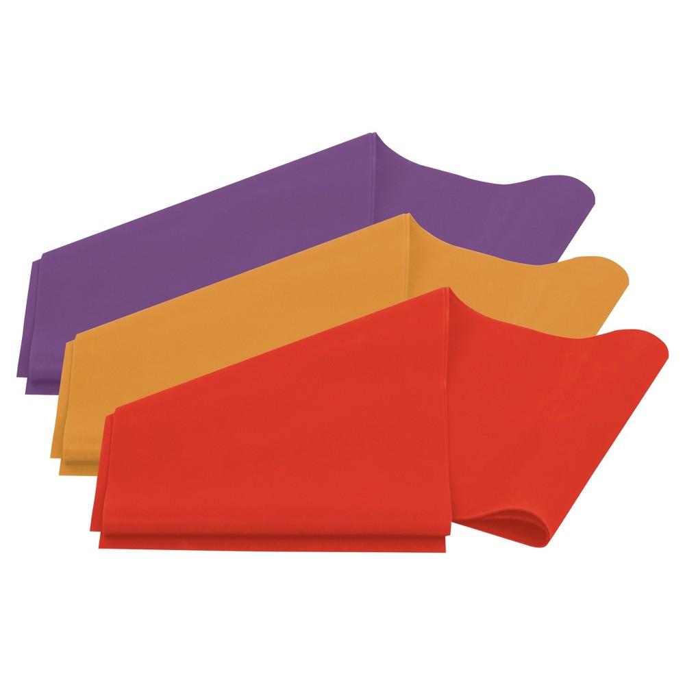Lifeline Flat Resistance Band Kit - Level 1 (L1- L3), Multi-Colored