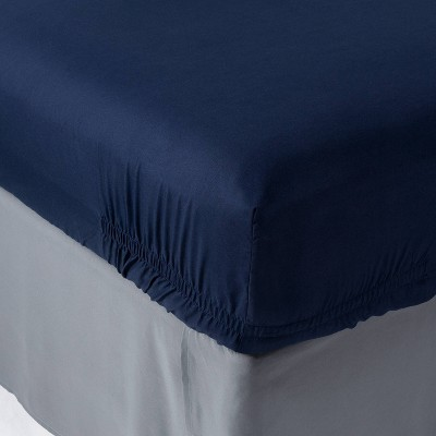 Twin/Twin XL 4pk Solid Microfiber Fitted Sheet - Room Essentials™