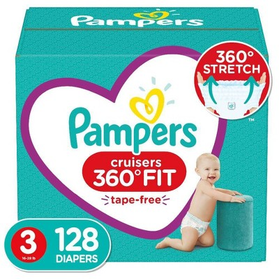 Pampers Cruisers 360 Disposable Diapers Enormous Pack - 128ct