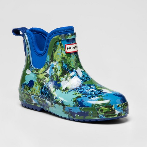 7c3a882a8f3 Hunter For Target Toddlers  Abstract Print Waterproof Short Rain Boots -  Blue   Target