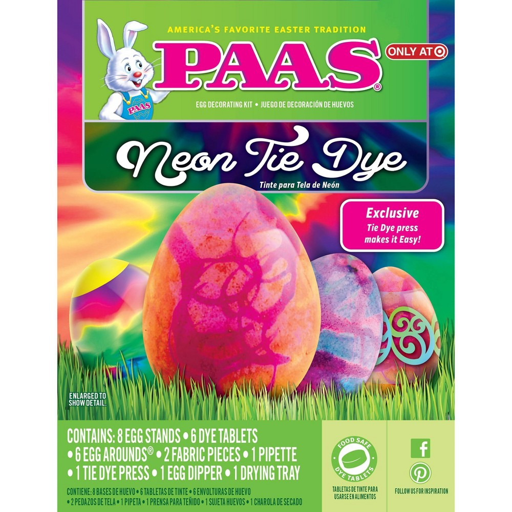 Paas Easter Neon Tie Dye Egg Decorating Kit, Multi-Colored