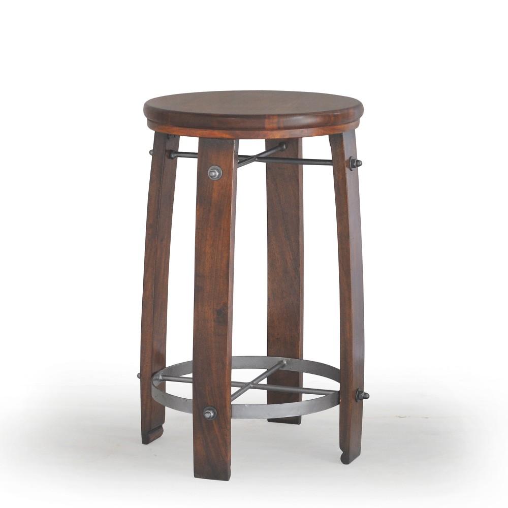 24 Rhett Barrel Counter Stool Chestnut (Brown) - Carolina Chair & Table
