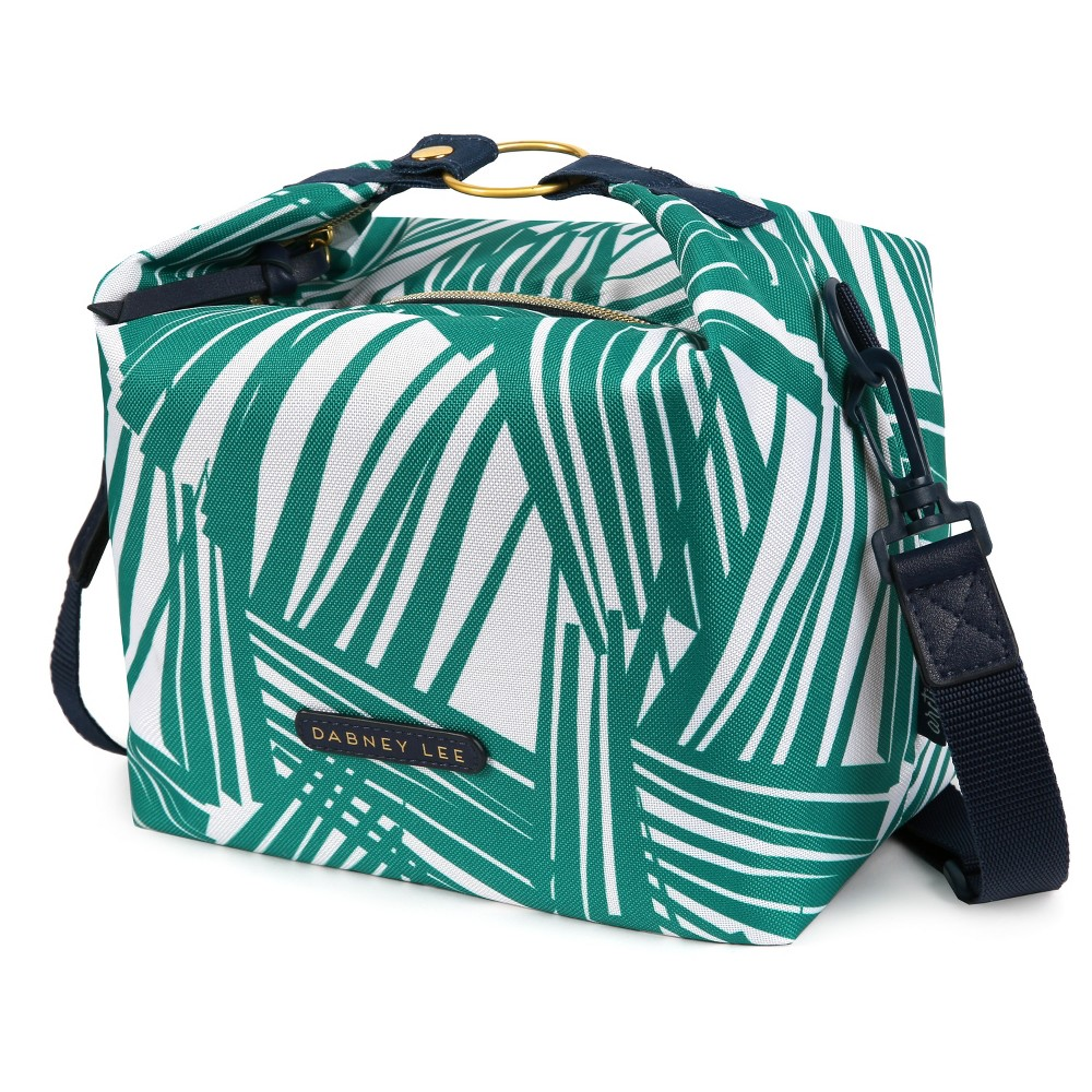 Image of Dabney Lee Zinnia Lunch Tote - Palm, Green