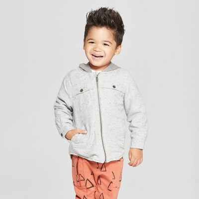 Toddler Boys' Zip-Up Jacket with Hood - Cat & Jack™ Gray 2T