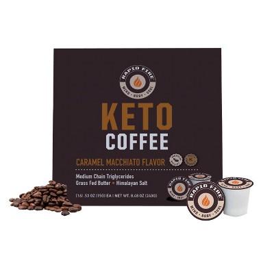 Rapid Fire Coffee Caramel Macchiato Light Roast Coffee Pods - 16ct