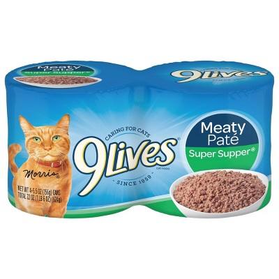 9Lives Meaty Paté Super Super Wet Cat Food - 5.5oz/4ct Pack