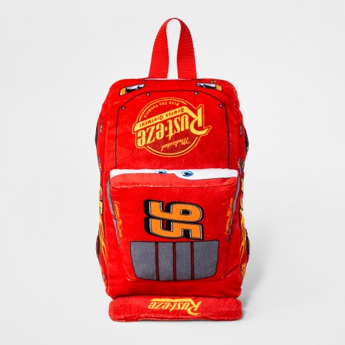 Toddler Boys  Disney Cars Lightning McQueen Plush Backpack - Red   Target