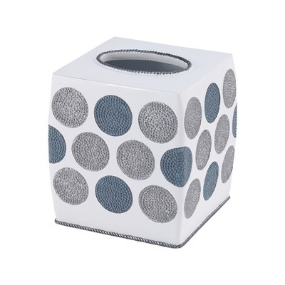 Avanti Dotted Circles Tissue Cover - White