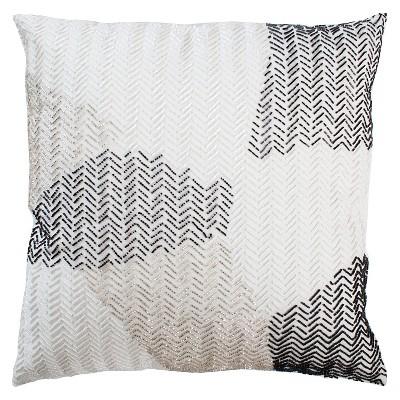 Black/White Holiday Throw Pillow (20 x20 )- Rizzy Home