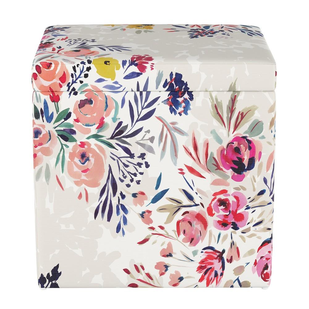 Plano Storage Ottoman Multi Floral - Project 62