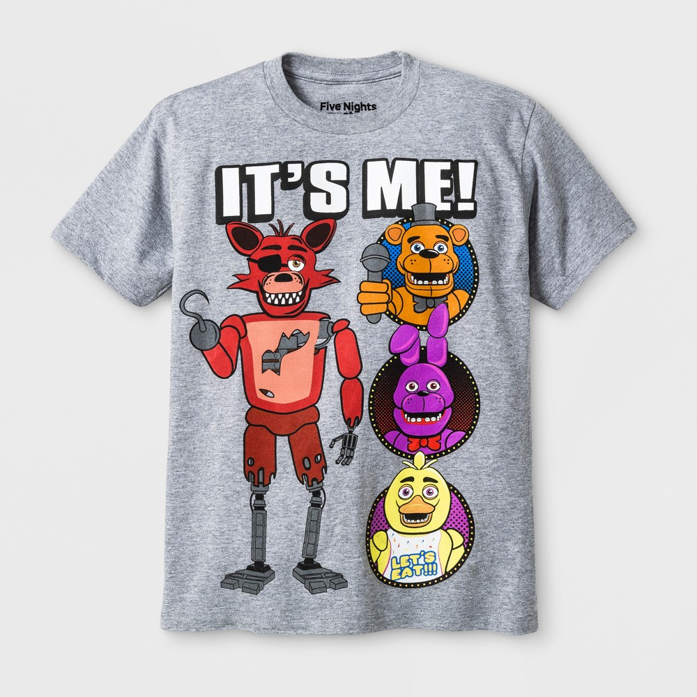 Image of Boys' Five Nights at Freddy's It's Me Character Graphic T-Shirt Athletic Heather L, Boy's, Size: Large, Gray