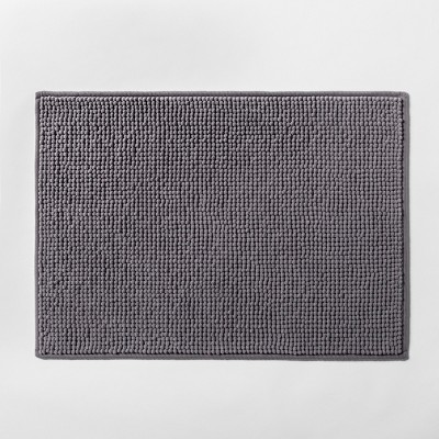 "17""x24"" Solid Bath Rug Dark Gray - Made By Design™"