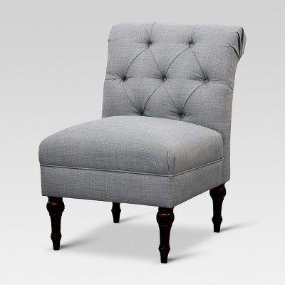 Tufted Rollback Slipper Chair - Gray - Threshold™