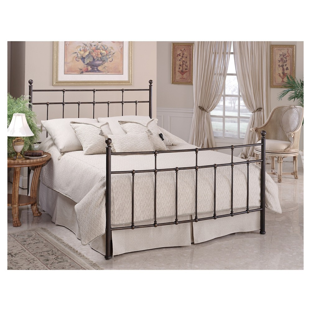 Providence Bed with Rails - Antique Bronze (Full) - Hillsdale Furniture, Brown