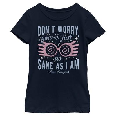 Girl's Harry Potter Just As Sane As Luna Lovegood T-Shirt