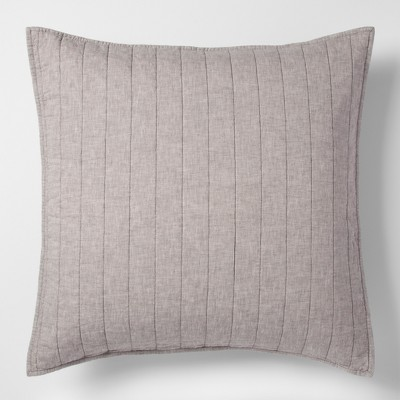 Gray Chambray Linen Blend Sham (Euro)- Threshold™