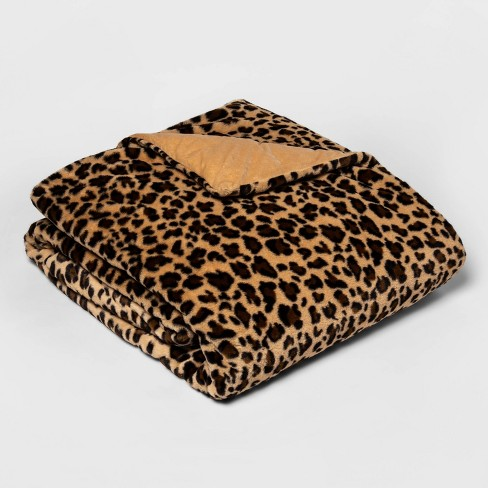 """60"""" x 80"""" Faux Fur Weighted Blanket with Removable Cover - Threshold™ - image 1 of 2"""