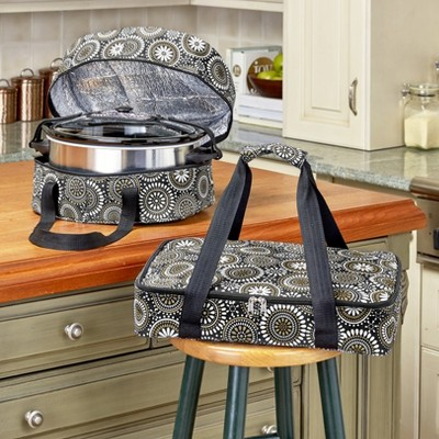 Lakeside 3-Pc. Carrier Bags for Slow Cookers, Casserole Dishes for Food