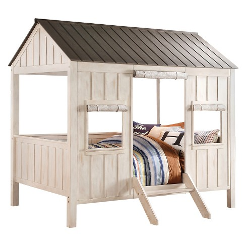 Spring Cottage Kids Bed - Weathered White(Full) - Acme - image 1 of 2