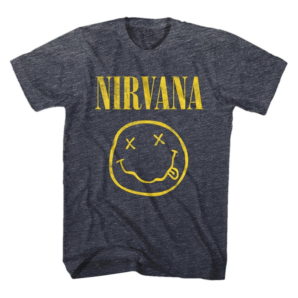 Men's Big & Tall Nirvana T-Shirt Blue Large Tall, Size: LT, Denim Heather