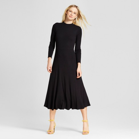 Women's Long Sleeve Rib Midi Dress - Who What Wear™ - image 1 of 3